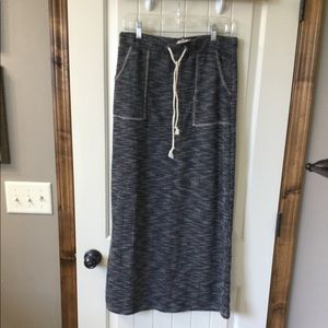 NWT Navy/cream maxi skirt